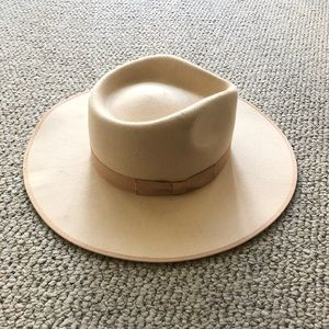 Lack of Color ivory Rancher Wool Hat Size Medium